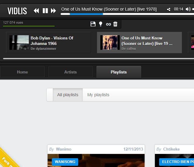 유튜브 음악듣기 VIDLIS 재생