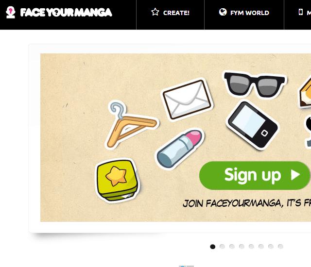 FaceYourManga 사이트 접속